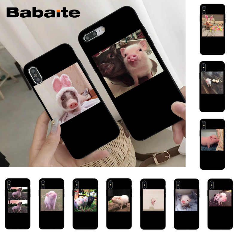 Babaite Cute Little Pink Pet Pig Luxury Unique Design Phone Cover for iPhone 8 7 6 6S Plus X Xs Xr XsMax 5 5s SE 5c Cover