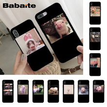 Babaite Cute Little Pink Pet Pig Luxury Phone Cover for iPhone