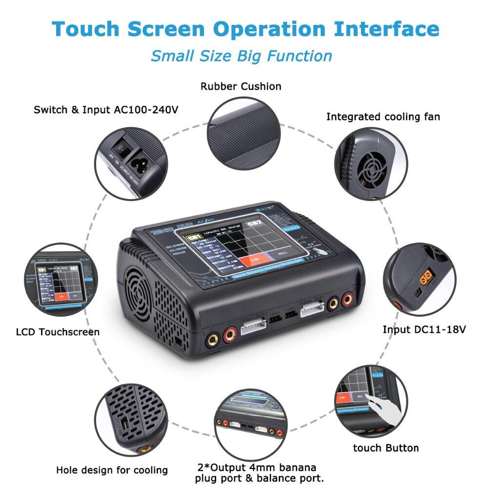 HTRC T240 DUO RC chargeur AC 150W DC 240W écran tactile double canal Balance déchargeur pour RC modèles jouets batterie Lipo - 3