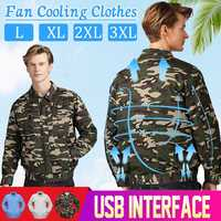 Safety Air Conditioning Wind Jacket Fan Suit USB 2 in1 Line Summer Heatstroke Cooling Fan Service Agriculture Busy Workwear