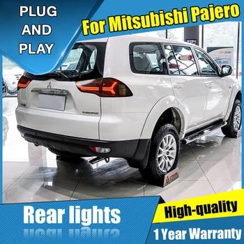 4PCS Car Styling for Mitsubishi Pajero Taillights 2011-2018 for Pajero LED Tail Lamp+Turn Signal+Brake+Reverse LED light