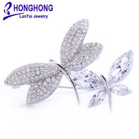 Brand Quality Crystal Scarf Brooch Rhinestone Jewelry Brooch Pin Bridal Wedding Crystal Animal Dragonfly Brooch Jewelry