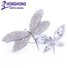 brand quality crystal scarf brooch Rhinestone Jewelry Brooch Pin Bridal Wedding Crystal Animal dragonfly Brooch Jewelry #WX8002