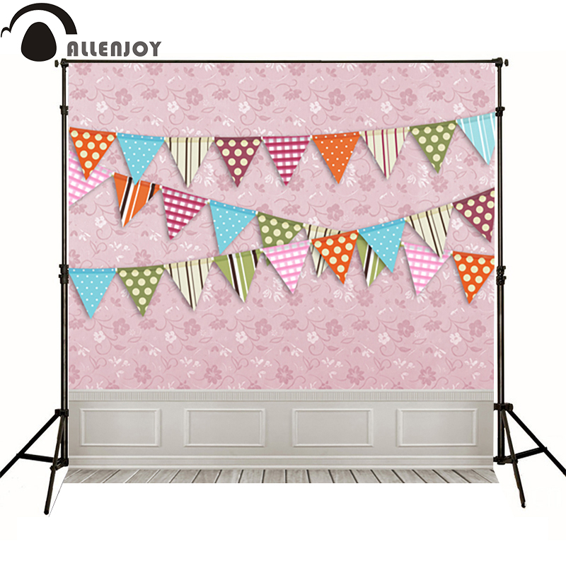 Allenjoy Photographic background wood floral dot damask pink baby party photo background photography backdrops photocall
