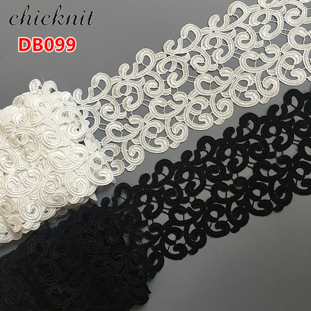 4 yards 135MM black Embroidered Lace Fabric DIY skirt hem Dance costumes  Garment Accessories lace trim