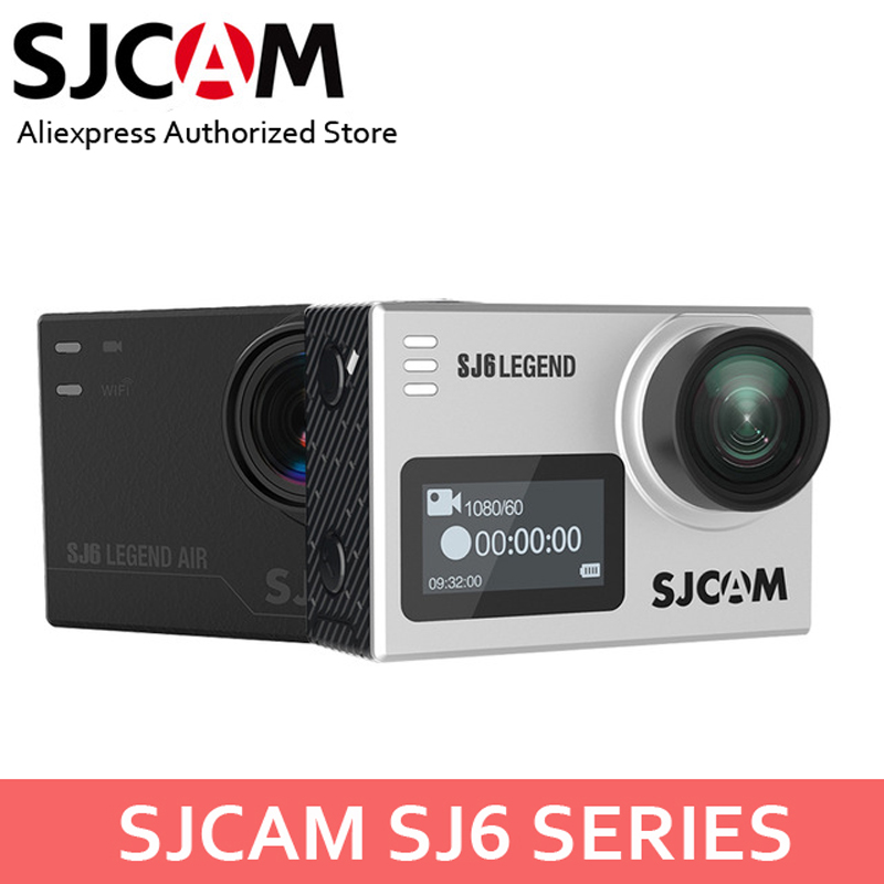 SJCAM SJ6 Legend & SJ6 Legend Air 4K 24FPS Remote Action Cam Waterproof Sports DV 2.0 Touch Screen Helmet Camcoder w/Accessories экшн камера sjcam sj6 legend uhd 4k wifi розовый [sj6legend rosegold]