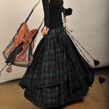 送料無料 新ファッションロングマキシ ライン弾性女性のコットンスカートプラスサイズ S-2XL
