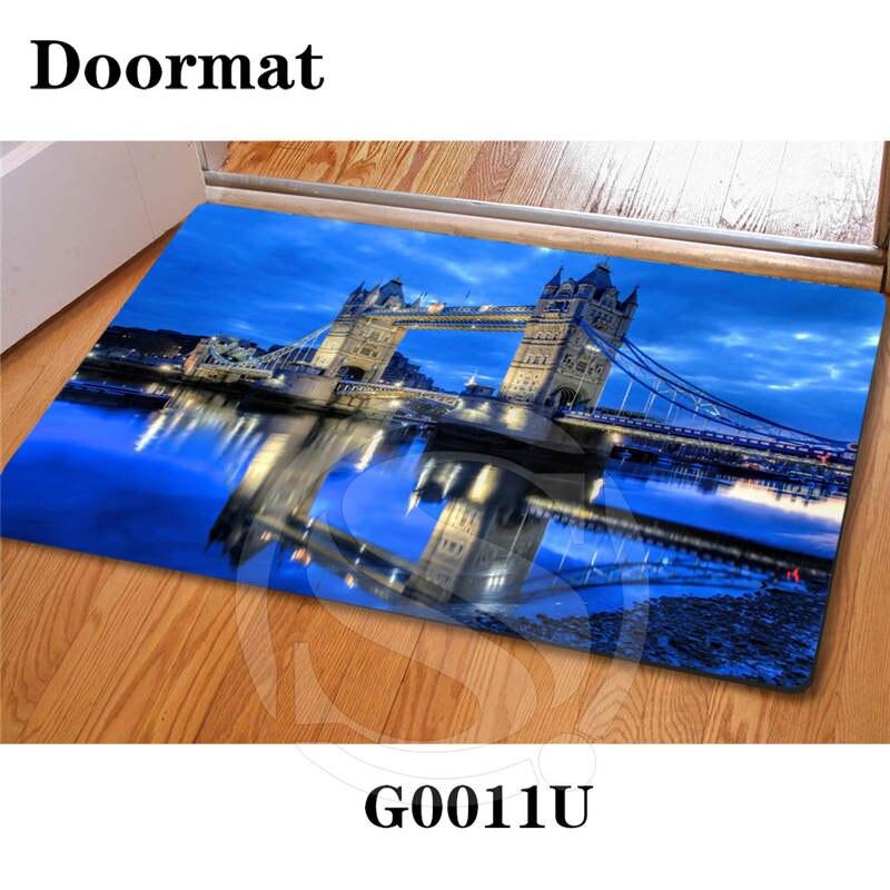 Free Shipping Custom Tower Bridge of London DoorMat Art Pattern Carpet Floor Hall Bedroom Cool Pad Fashion Rug SQ0626-LDL9