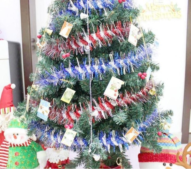 Us 232 05 9 Off Hot Christmas Ribbon Garland Party Decoration Tree Decoration Ornaments Xmas Ribbon Encryption Thickening 200cm Stage Props In