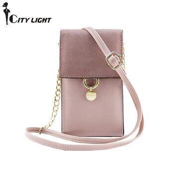 새로운 여성 휴대 전화 패키지 2018 여성 메신저 가방 작은 체인 디자인 패션 숙녀의 어깨 가방 미니 플랩