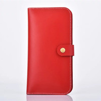 Esing 6 0 Inch Universal Business Multi Functional Soft Genuine Cowhide Leather Wallet Pouch Cover Case