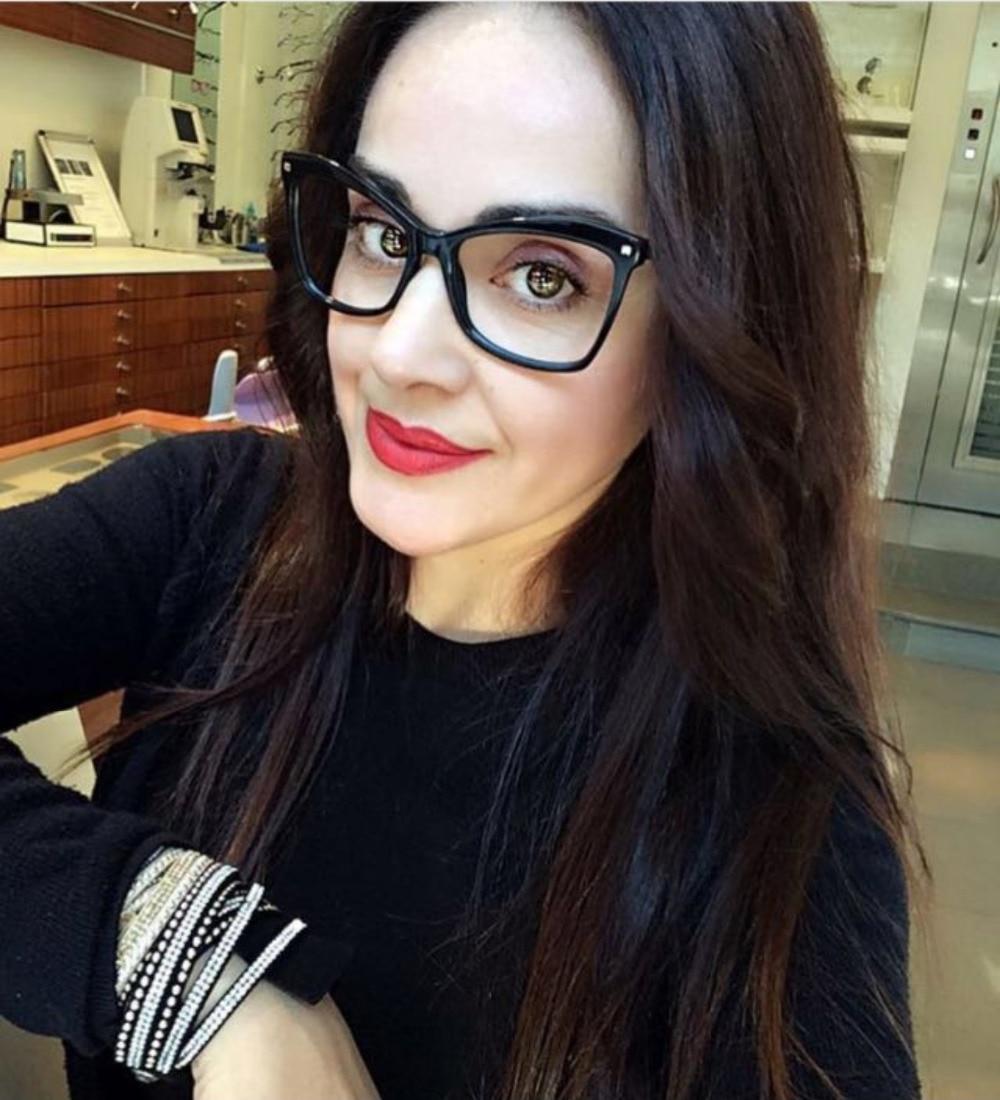 5f3533978b47 SOZO TU Trend Retro Alloy Legs Oversized Eyewear Frame Women Men Personality  Optical Eyeglasses Computer Glasses Spectacle Frame-in Eyewear Frames from  ...