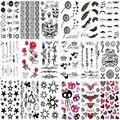 2016 Hombres Limitados 100 Diseños de Productos A Prueba de agua Tatuaje Temporal Etiqueta De Plata De Oro de Flash Sexy Metálico Tamaño Cerca de 20*10 cm