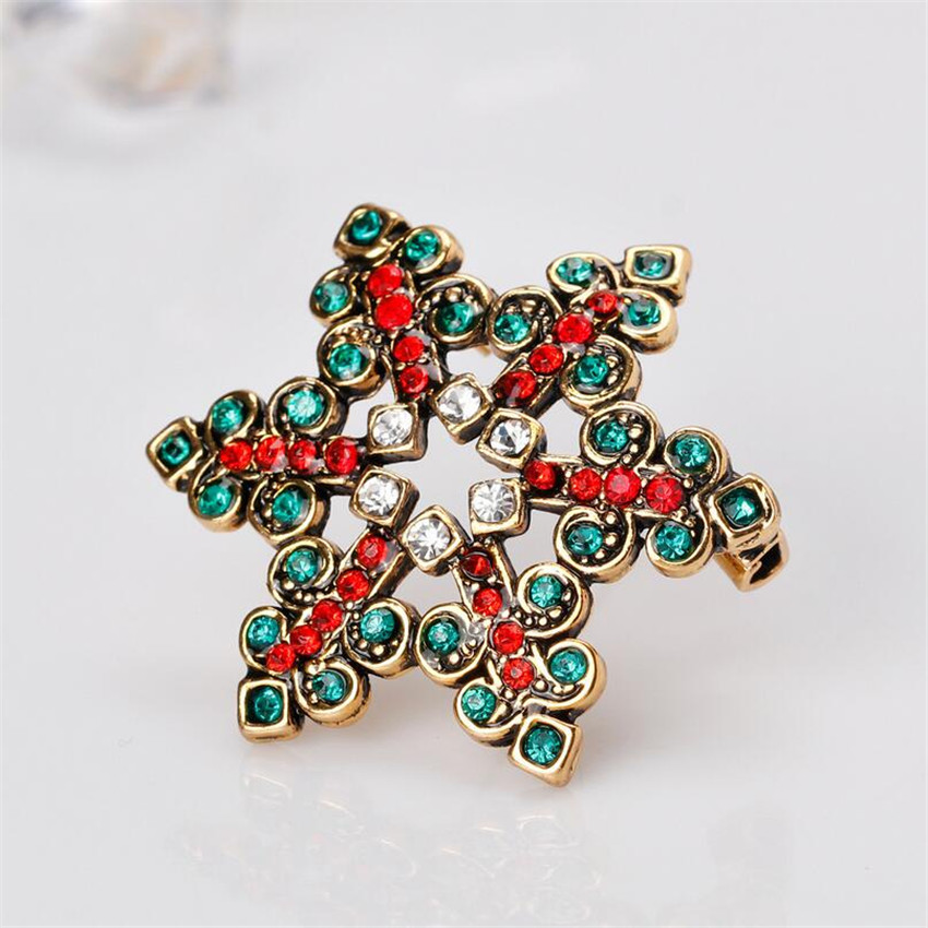 Jmiyihz Vintage Christmas Snowflake Brooch For Women Colorful Austrian  Rhinestone Snowflower Shape Brooches And Pins Punk Gifts-in Brooches from  Jewelry ... 1df96b6d6867