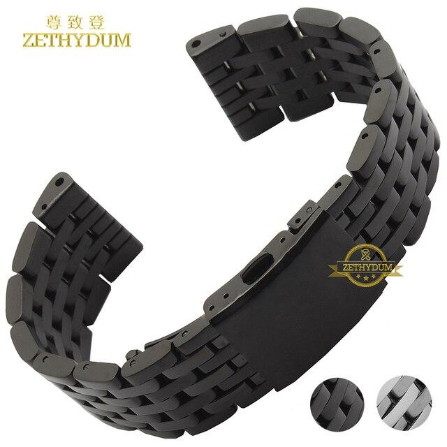 d7e8954720a Pulseira de aço inoxidável pulseira assista bracelete de metal sólido 24 26  28 30 milímetros relógios