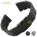 Stainless steel bracelet solid metal watchband watch strap 24 26 28 30mm wristwatches band black silver watch accessories