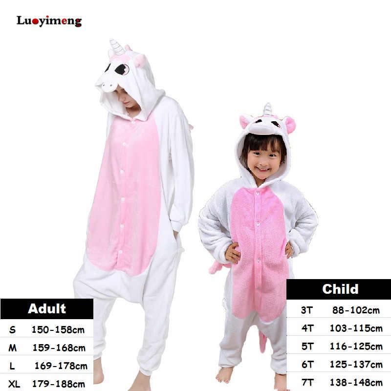 ... Синий Единорог стежка панда унисекс пижамы взрослые Аниме Косплей  Костюм кигуруми комбинезоны пижамы для женщин дети 8f618148e592f