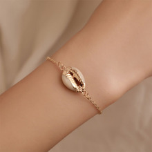 Bohemian Shell Adjustable Bracelet For Women Charm Ethnic Fashionable Chain Alloy Seashell Jewelry WD114