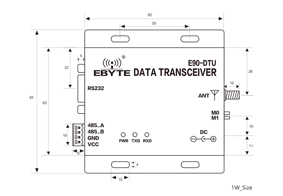 E90-DTU-900SL22 LoRa 22dBm Modem RS232 RS485 868MHz 915MHz RSSI Transceiver