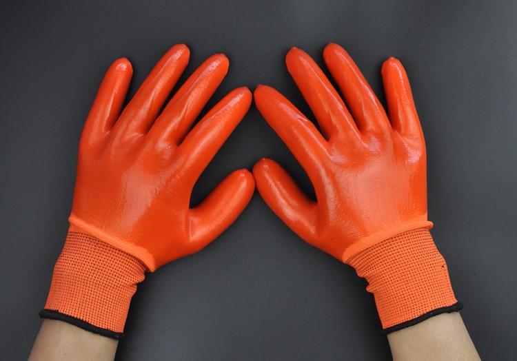 Gratis frakt superbillig 12 par Syre Alkali Resistent Arbeidshansker, - Sikkerhet og beskyttelse - Bilde 2