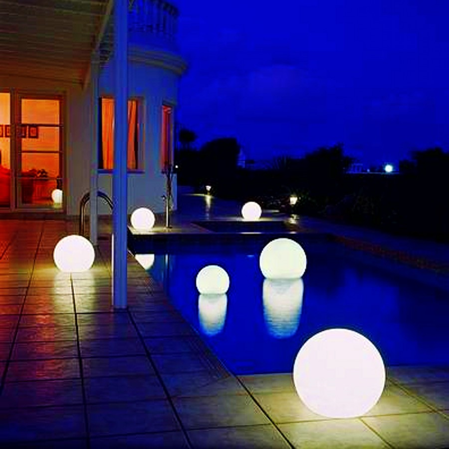 Led Luminous Ball Lights Outdoor Waterproof Round Globe Lamp Large Electronic