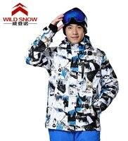 Mężczyzna biały i czarny jazda Snowboard Narciarska Kurtka odzieży męskiej deskorolce żakiet Wspinaczka Śnieg narciarstwo Kurtki wodoodporna