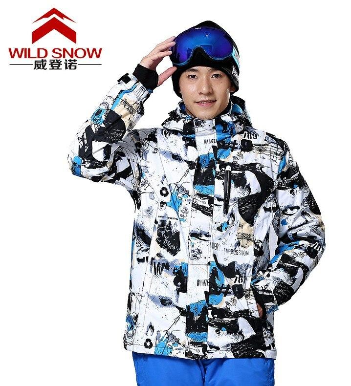 Prix pour Mens blanc et noir Veste de Ski planche à roulettes manteau Escalade Neige survêtement mâle équitation Snowboard ski Vestes étanche
