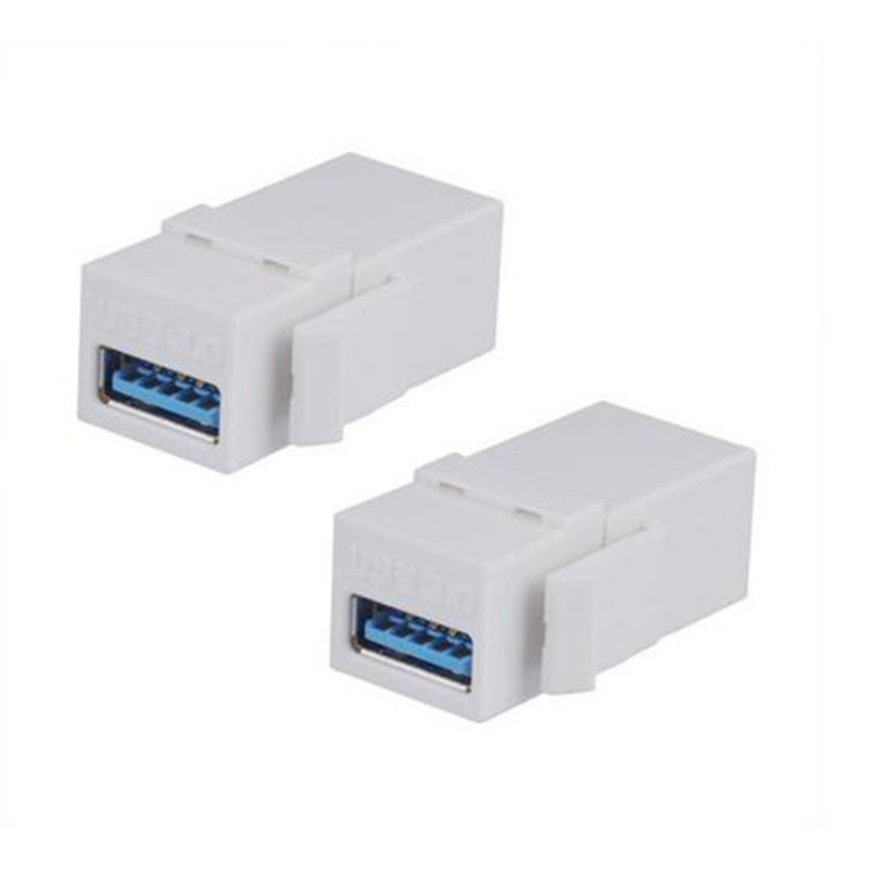 Female Port Coupler Snap-in Connector Socket Adapter for Wall Plate Outlet Panel 2-Pack Conwork HDMI Keystone Jack Inserts