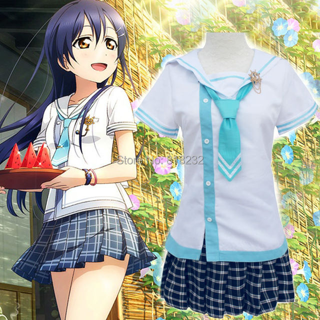 d88a465740b1 Lovelive Love Live Sonoda Umi Navy Sailor Suit School Uniform Dress Outfit  Anime Cosplay Costumes