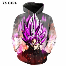 Women/Men 3d Japan Anime Dragon Ball Z Super Saiyan Pullover Son Goku Hoodies Hip Hop Hoodie Autumn/Spring Hooded Sweatshirt new spring autumn dragon ball z hoodie anime son goku coat men zipper jacket