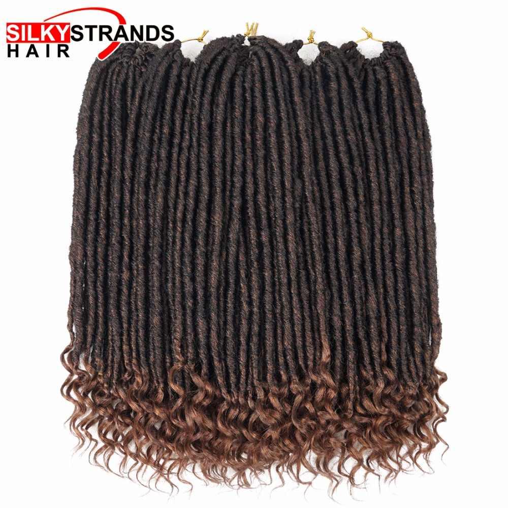 18 дюймов Синтетические богини Локи крючком волосы для наращивания 24 корня Джамбо замки Dread косы волосы мягкие натуральные шелковистые пряди