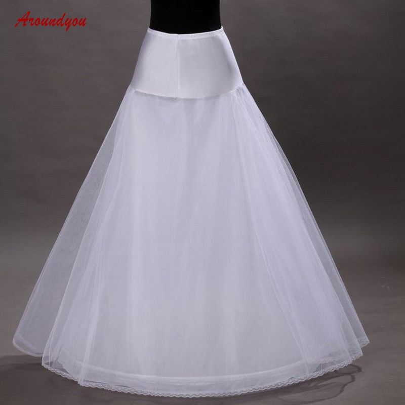 White or Black Petticoat Wedding Woman Underskirt Tulle Pettycoat Crinoline Hoop Skirt