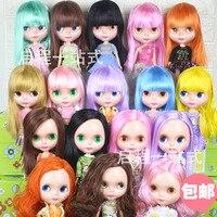 ICY Lalki takie same jak Blyth doll różowe włosy czarne włosy złota włosy z makijaż nadaje się do DIY makijaż Nude Blyth Doll dziewczyny prezent