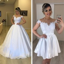 LaRovias 2 in 1 Wedding Dress with Removable Dresses For