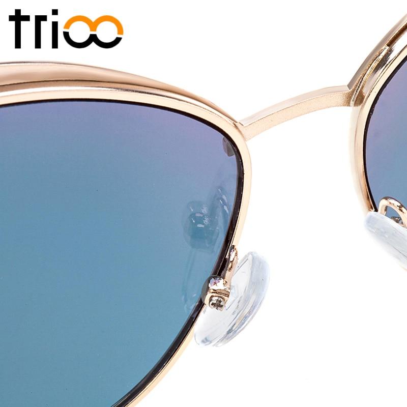 TRIOO Yüksək keyfiyyətli pişik gözlü qadın eynəyi gül - Geyim aksesuarları - Fotoqrafiya 5