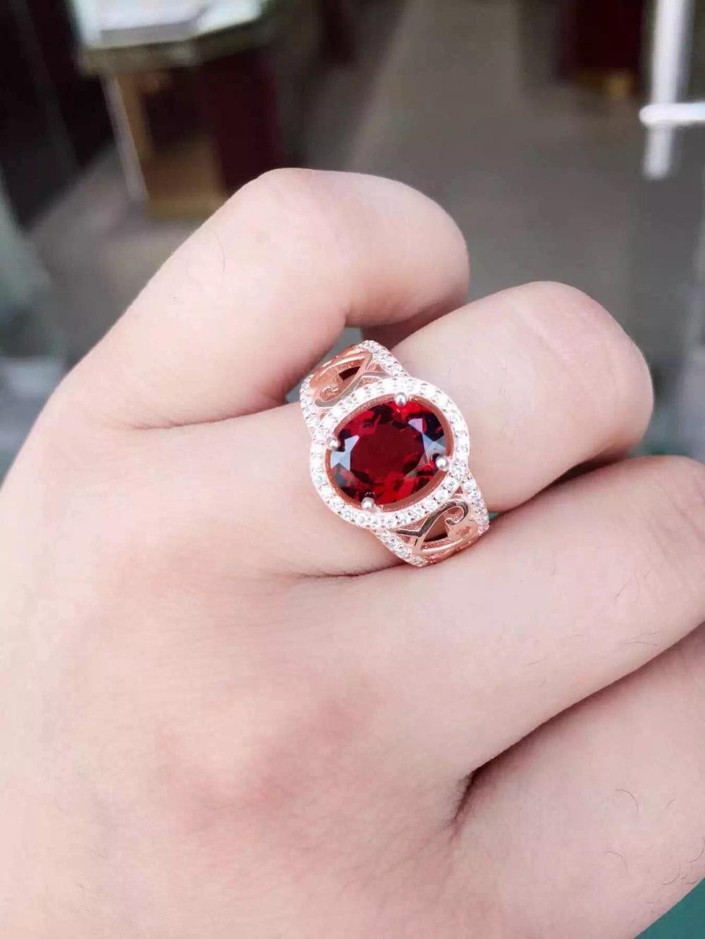 Natural red garnet gem stone Ring Natural gemstone ring 925 sterling ...