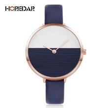 HOREDAR Moda Mujer Relojes 2017 Top Marca de Lujo de pulsera de Cuarzo Ocasional Reloj Mujeres Reloj de Señora Popular Reloj Relojes Mujer