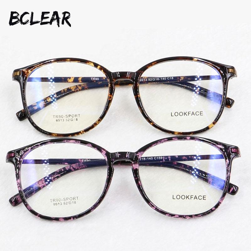 9f09c682dc BCLEAR nuevo TR90 ronda leopardo marco óptico de estilo gafas para mujeres  anteojos recetados de señora de la moda de espectáculo de en Las mujeres  gafas de ...