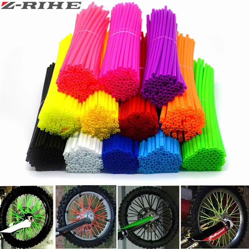 цены Motocross Dirt Bike Enduro Wheel RIM SPOKE Shrouds SKINS COVERS WR250 for KTM KX85 EXC450 for KAWASAKI KX 500 CRF YZF RMZ KXF