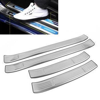 4 шт. из нержавеющей стали автомобильный порог входной двери Накладка крышки серебро для Honda Accord 10th 2018 2019