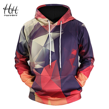HanHent New Geometric Hoodies 3d Man Streetwear