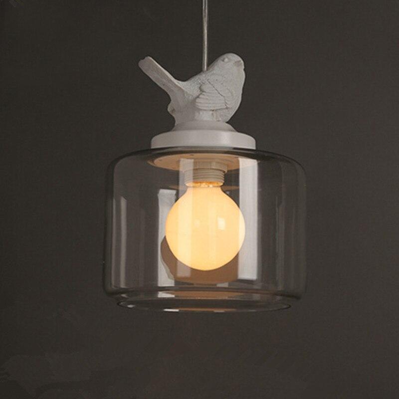 LukLoy Single LED Kitchen Lights LED Lamp Bedside Hanging Lamp Ceiling Lamps Living Room Bird Pendant Lights Lighting Fixtures