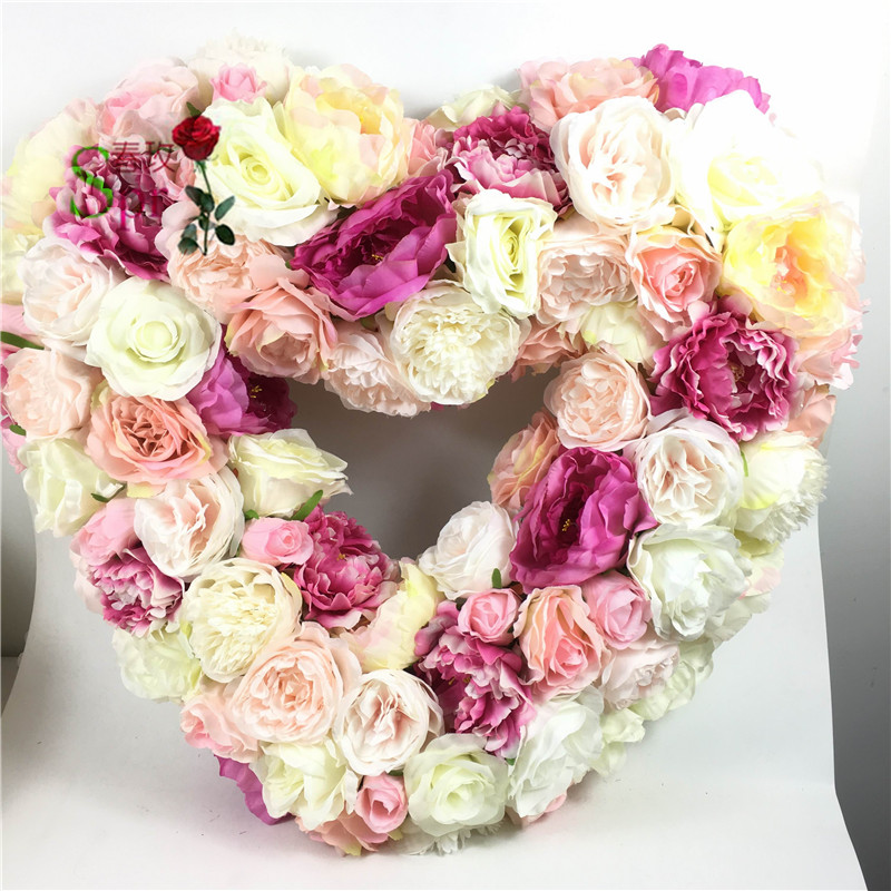 SPR FW1812211 silk flower wedding decoration artificial flowers wedding arrangements for wedding heart shaped artificial flower