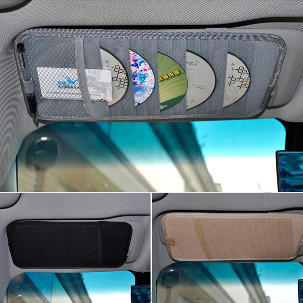 3 color Portable Sunshade 12 Disc Capacity DVD CD Case for Car Media Storage CD Bag -25