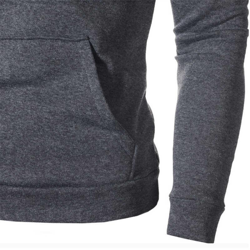 2019 di Modo di casual Solido Felpe Uomo Autunno Outwear Camicetta Maschio Felpe Hip Hop A Manica Lunga Felpa Con Cappuccio Streetwear Abbigliamento Uomo