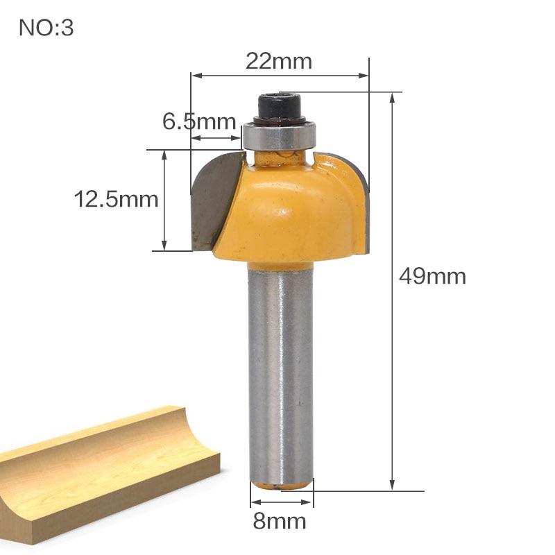 1 pz 8mm Fresa per legno con codolo Fresa per estremità dritta - Macchine utensili e accessori - Fotografia 5