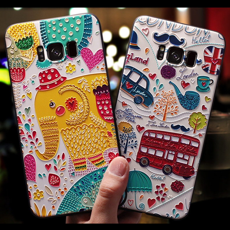 3D Flower Emboss Case For Samsung Galaxy Note 8 9 J2 J3 J5 2017 2016 J4 J6 J7 J8 Prime 2018 2015 Neo S10 S10e Plus Case Soft TPU image