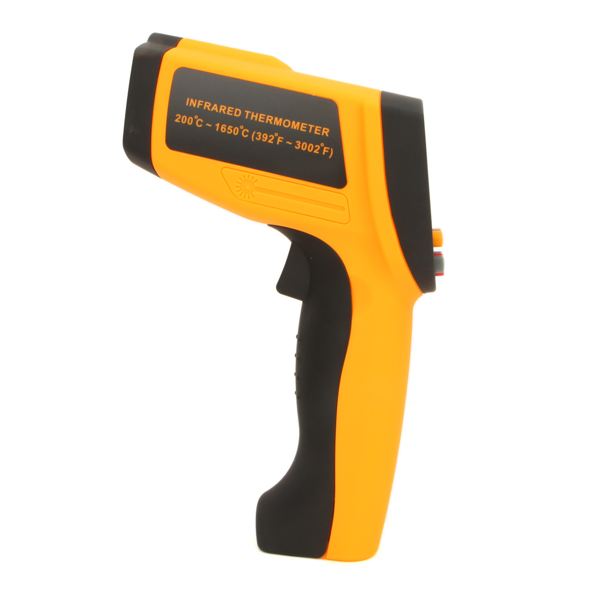 GM1650 LCD Non-Contact Digital 392~3002F Pyrometer 0.1~1EM Celsius Laser IR Infrared Thermometer 200-1650 C цена 2016