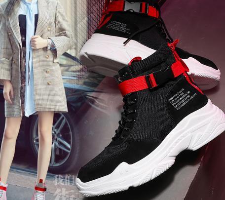 Été Danse Hip Coréenne Épais Cas noir Automne 2018 Couleur Et Correspondant Version Beige Rue Nouveau Femmes Chaussures Sauvage La hop De 5ZZCqx17w