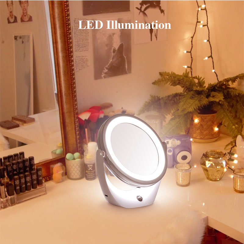 TOUCHBeauty Led Light Cosmeticaspiegel Dual-side 1X en 5X, 360 - Huidverzorgingstools - Foto 4